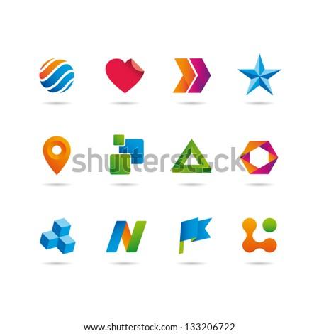 icons set vector - stock vector
