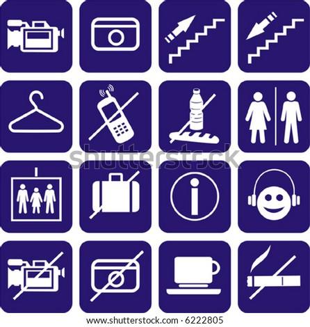Icons set. ( Vector) - stock vector