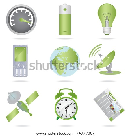 Icons set. Vector illustration - stock vector