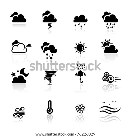 Icons set Weather - stock vector