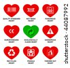 Icons standard hearts. - stock photo