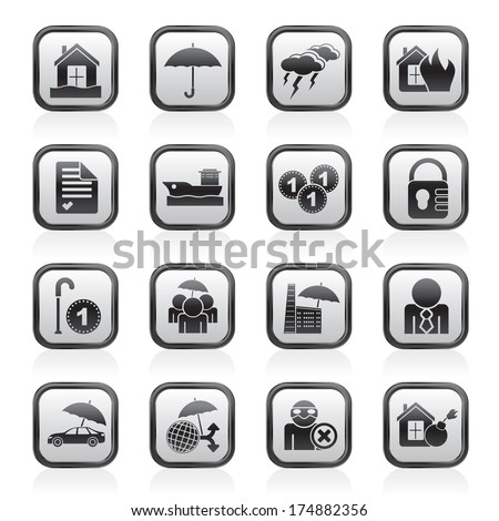 Icons - vector icon set - stock vector