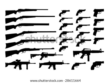 Icons weapons - stock vector
