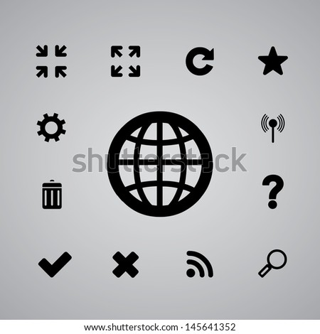 icons web set for use - stock vector