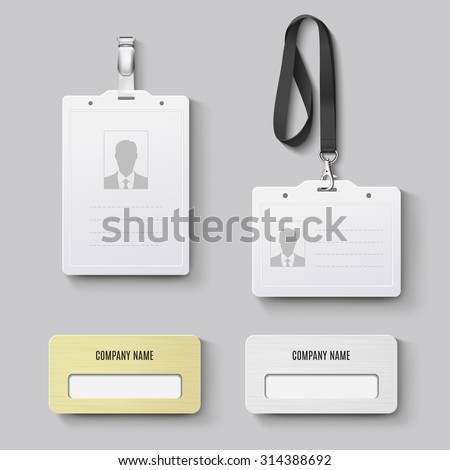 id badge. Vector set - stock vector