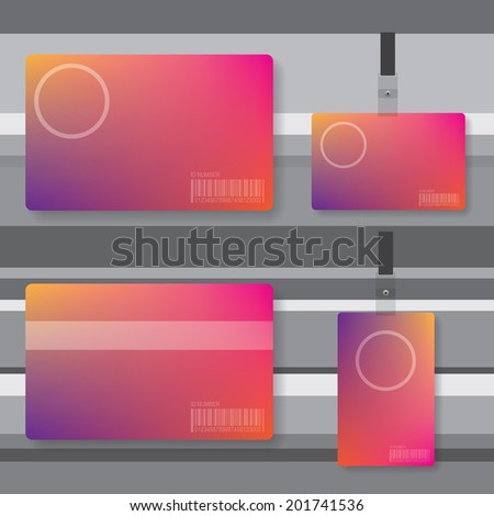 Id card abstract illustration - stock vector