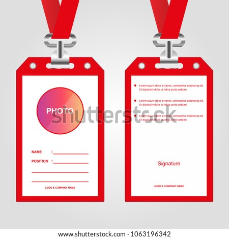 Id Card Employeeeventpartyidentificationbusiness Company Vector ...