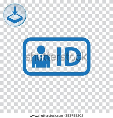 ID card icon for web and mobile - stock vector