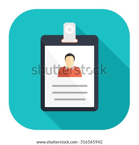 id cards icon - stock vector