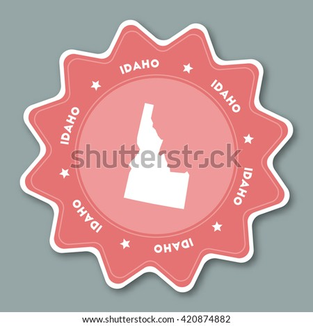 Idaho On Us Map Globalinterco - Us state sticker map