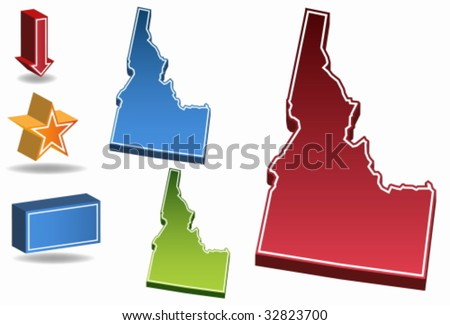 Idaho State - stock vector