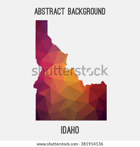 Idaho state map in geometric polygonal style.Abstract tessellation,modern design background. Vector illustration EPS8 - stock vector