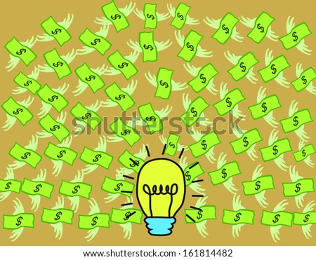 idea and bank in concept idea to money vector art