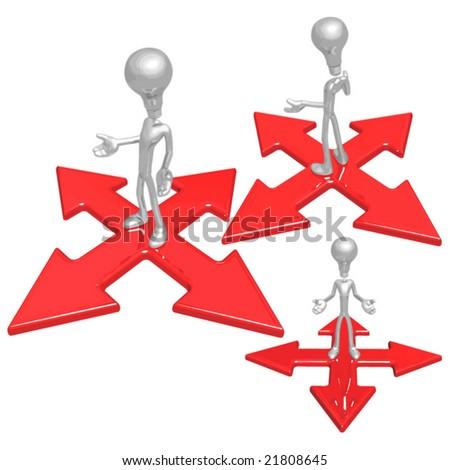 Idea At Crossroad - stock vector
