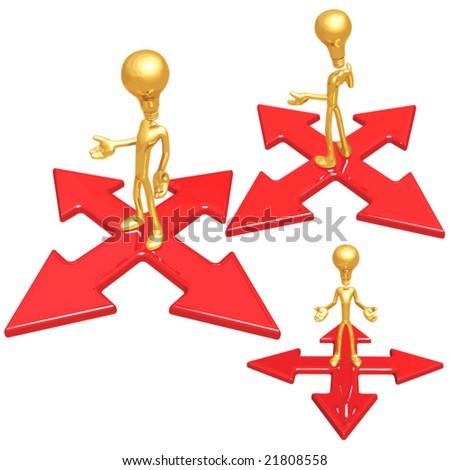 Idea At Crossroads - stock vector
