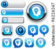 Idea blue design elements for website or app. Vector eps10. - stock photo