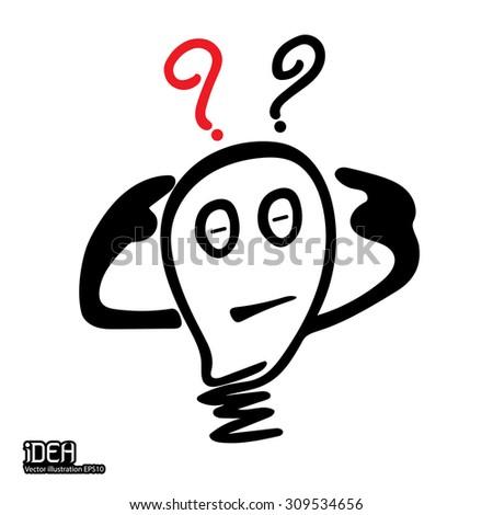 idea bulb icon thinking - stock vector