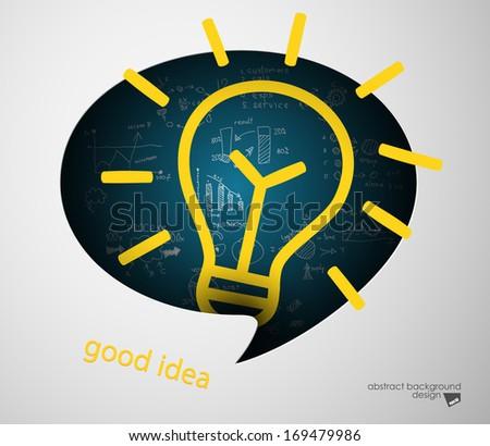 idea concept speech bubble - stock vector