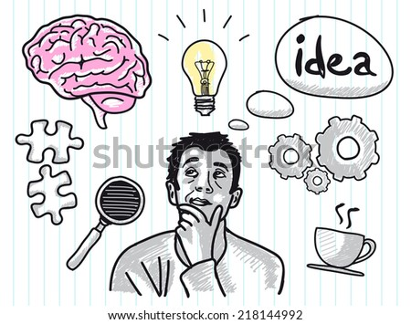 Idea Concept themed Vector Set - stock vector