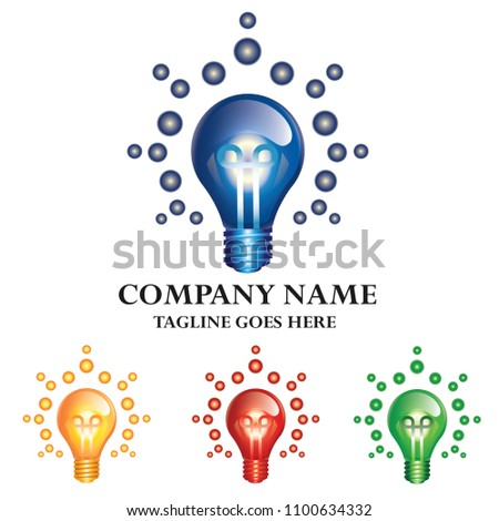 Idea Energy Light Bulb Company Logo Design