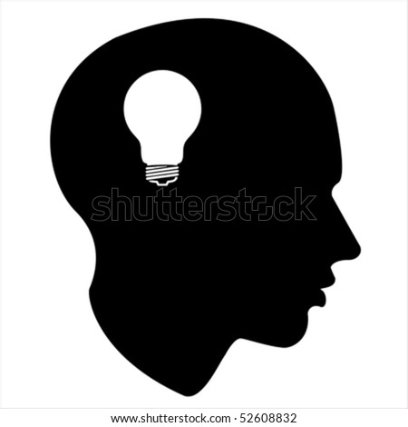 idea, energy light of the human mind Isolated over background and groups, vector illustration