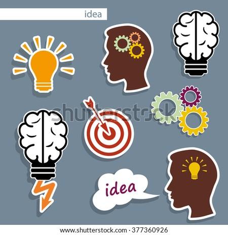 idea. flat vector - stock vector