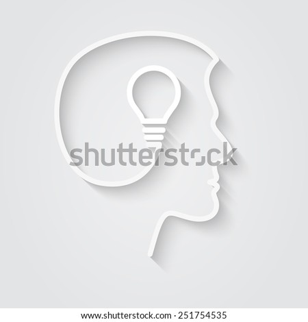 Idea Form Human Head Soft Shadow Stock Vector 251754535 - Shutterstock