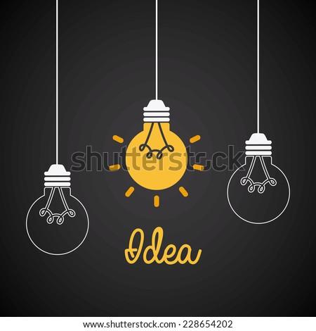 idea graphic design , vector illustration - stock vector