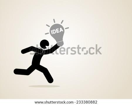 idea innovation creative expertise problem solution vector icon - stock vector
