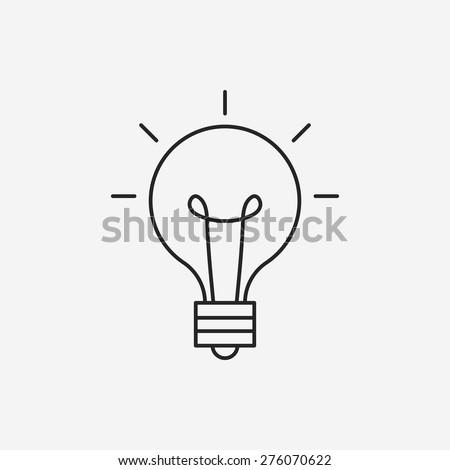 idea line icon - stock vector