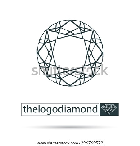Idea logotype for corporate identity. Abstract image of diamond. Vector design. - stock vector