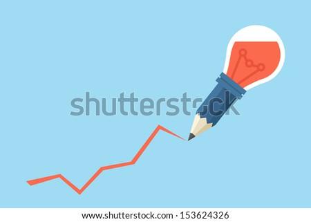 idea pencil, vector - stock vector