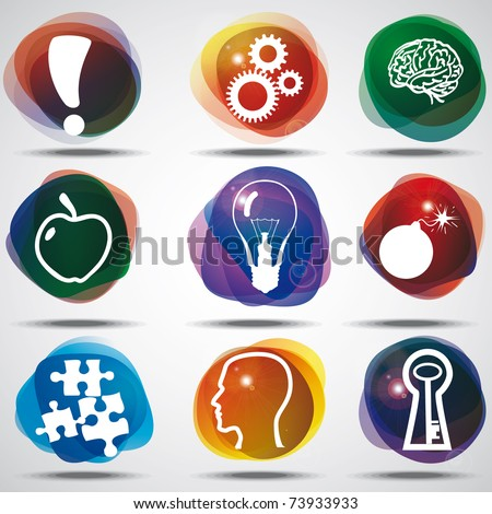 Idea Symbols Set. - stock vector