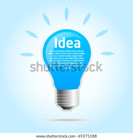 Idea template light bulb - stock vector