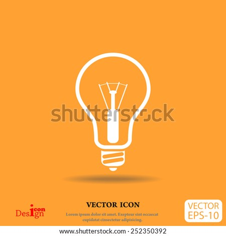 idea vector icon - stock vector