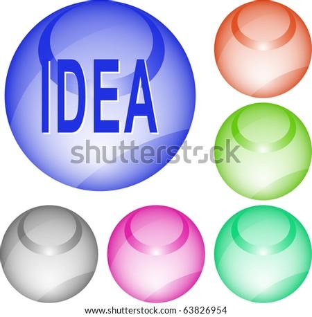 Idea. Vector interface element. - stock vector