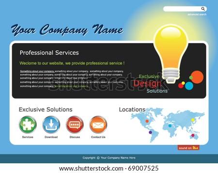 Idea -- Web Design Template - stock vector