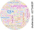 IDEA. Word collage on white background. Illustration with different association terms. - stock photo