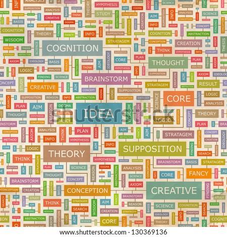 IDEA. Word collage. Seamless illustration. - stock vector