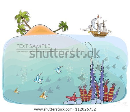 ideal place to relax concept background - stock vector