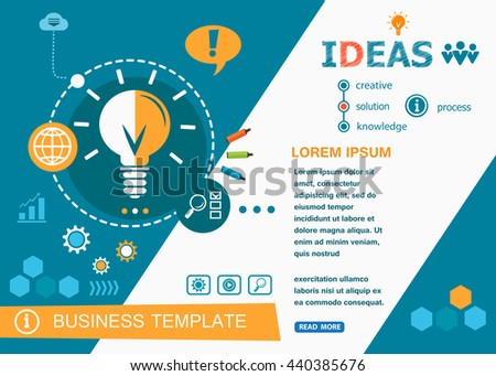 Ideas design concepts of words learning and training. Ideas flat design banners for website, easy to use and highly customizable.