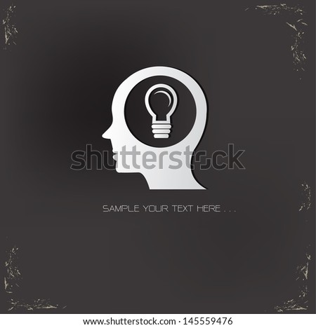 Ideas thinking  symbol,vector - stock vector