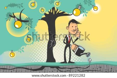 Ideas Tree - stock vector