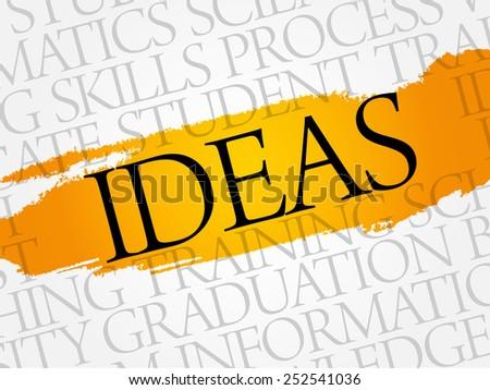 IDEAS word cloud, education business concept - stock vector