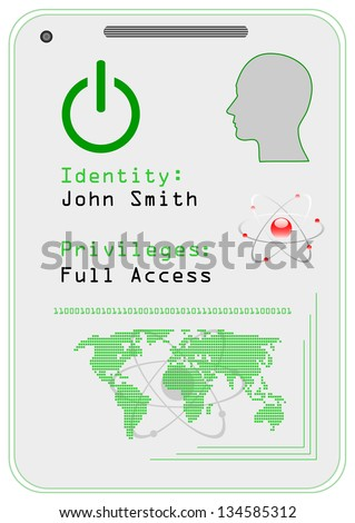Identification card,  icon. Vector illustration. - stock vector