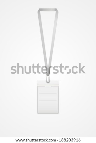 Identification card.Vector illustration. - stock vector