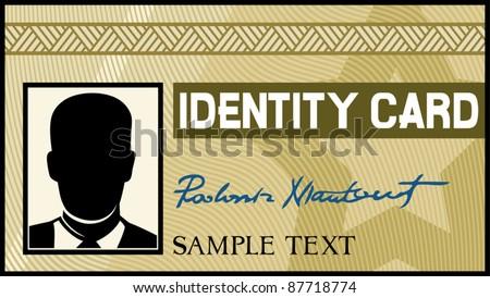 identity card - stock vector