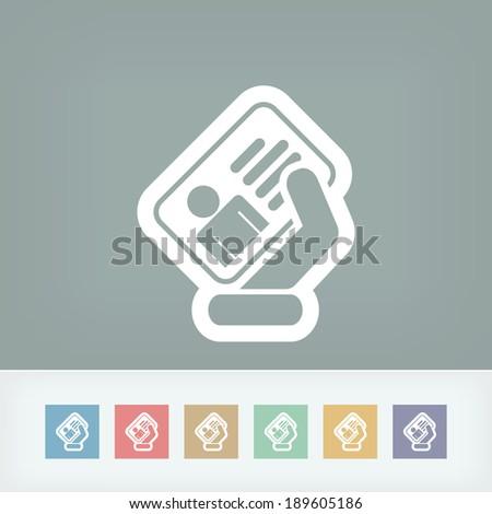 Identity card icon - stock vector