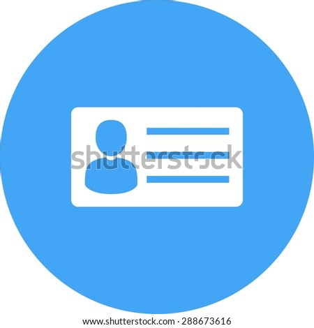 Identity card, information, account icon vector image.Can also be used for banking, finance, business. Suitable for web apps, mobile apps and print media. - stock vector