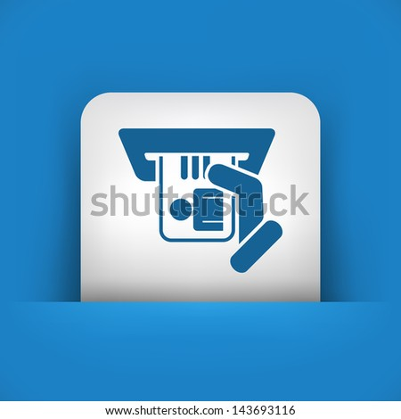 Identity card insert icon - stock vector